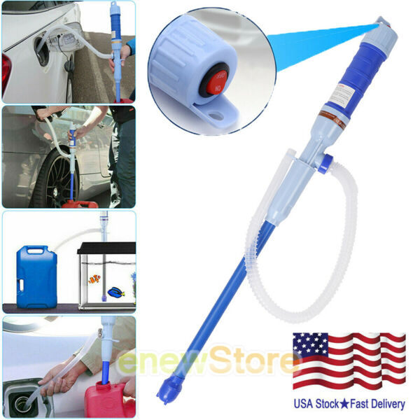 Electric Water Pump Liquid Transfer Gas Oil Siphon Battery Operated Pumps Red $14.55