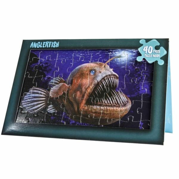 ANGLER FISH 40 PIECE PUZZLE BIRTHDAY CARD $3.99