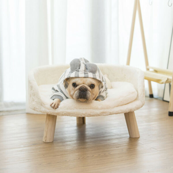 Ultra Comfy Elevated Dog Cat Sofa Bed Couch Pet Chair Removeable Padded Cushion $42.93