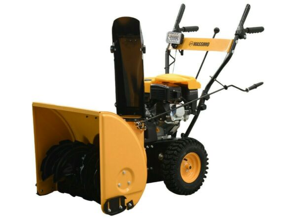 24quot; 196cc Gas Snow Blower Thrower 2 Stage Shovel Walk Behind Heavy Duty
