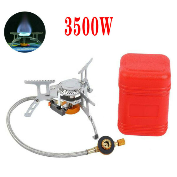 3500W Outdoor Portable Picnic Gas Burner Backpacking Camping Hiking Mini Stove