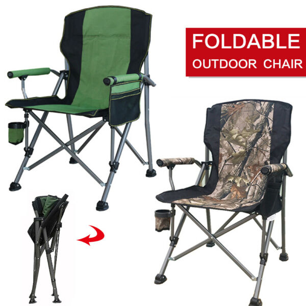 Chair Outdoor Camping Portable Rocking Foldable Seat Cup Phone Holder USA.