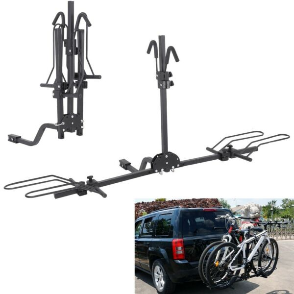 2 Bike Carrier Platform Hitch Rack Bicycle Rider Mount Foldable Receiver 2quot; $89.99