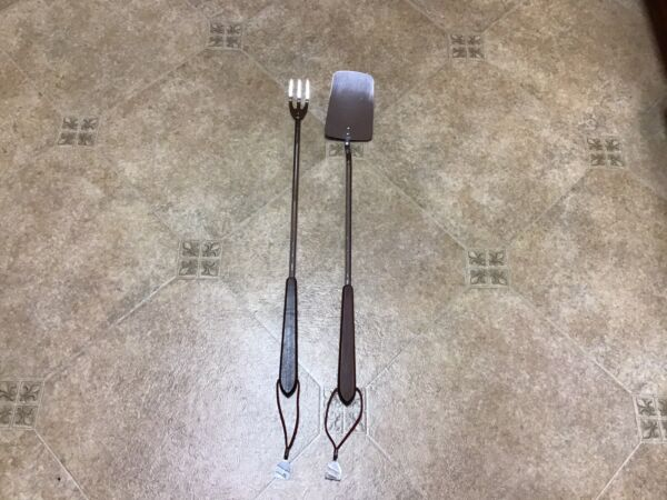 "22"" Vintage Duncan Hines Stainless Cooking BBQ Grilling Kitchen Utensils Set 2"