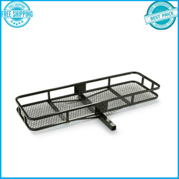 Hitch Mount Cargo Carrier Steel Basket Luggage Receiver Rack Hauler 500 lbs $96.82