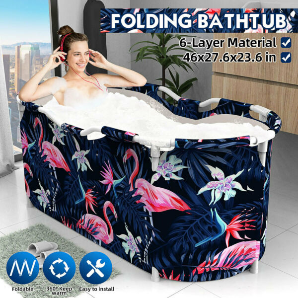 Folding Bathtub Adult Spa Detox Bath Bucket Water Tub Indoor Portable Swim US