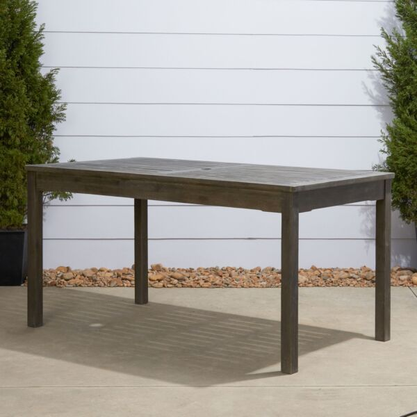 Renaissance Outdoor Rectangular Hand scraped Wood Patio Dining Table $369.93