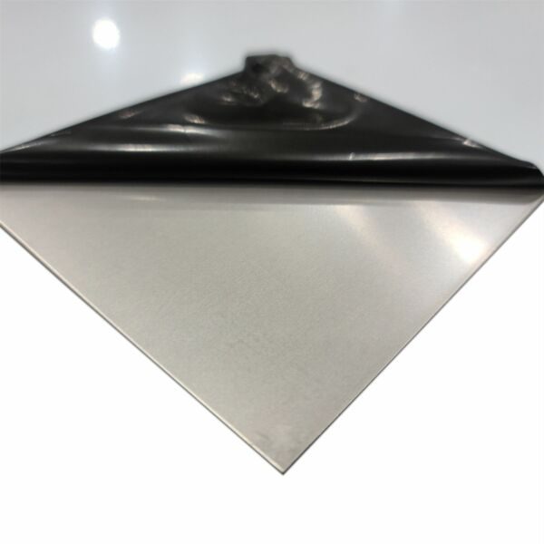 304 Stainless Steel Sheet 0.024quot; x 24quot; x 24quot; 2B PVC Annealed