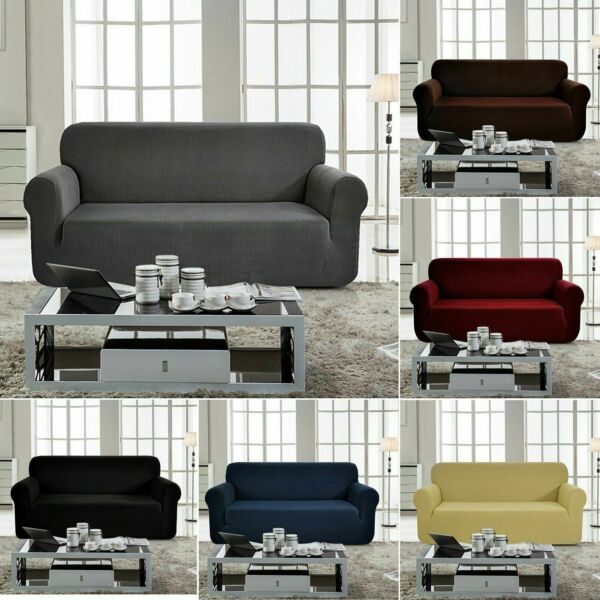 Sofa Covers 1 2 3 4 Seater Slipcovers Elastic Stretch Furniture Protectors US $25.99