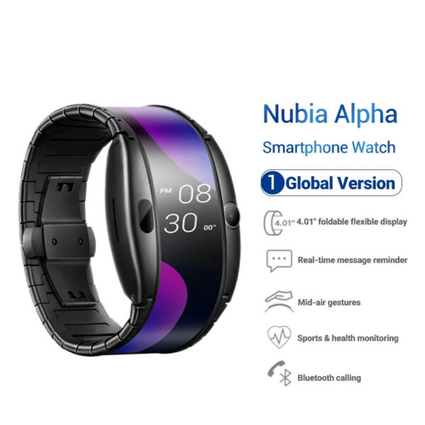 Nubia Alpha 4.01quot; Mobile Smartphone Watch 8GB Flexible Curved Screen WiFi Wrist