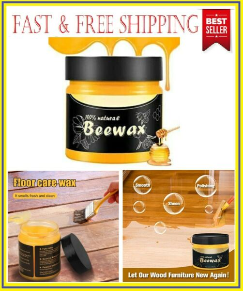 Natural Wood Seasoning Beewax Polish For Furniture Floor Protectant Cleaner 85g $7.99