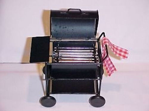 DOLLHOUSE Miniature BBQ Barbeque Smoker Grill for 1:12 Doll House Scene