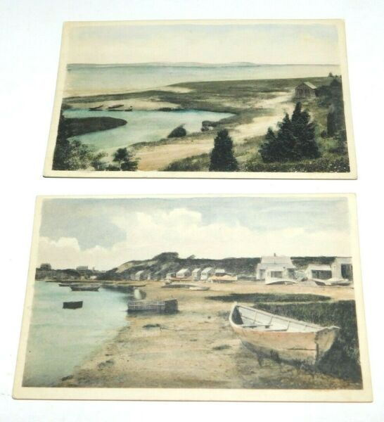 Vintage Chatham Massachusetts Pleasant Bay amp; Mill Pond Hand Colored Postcards