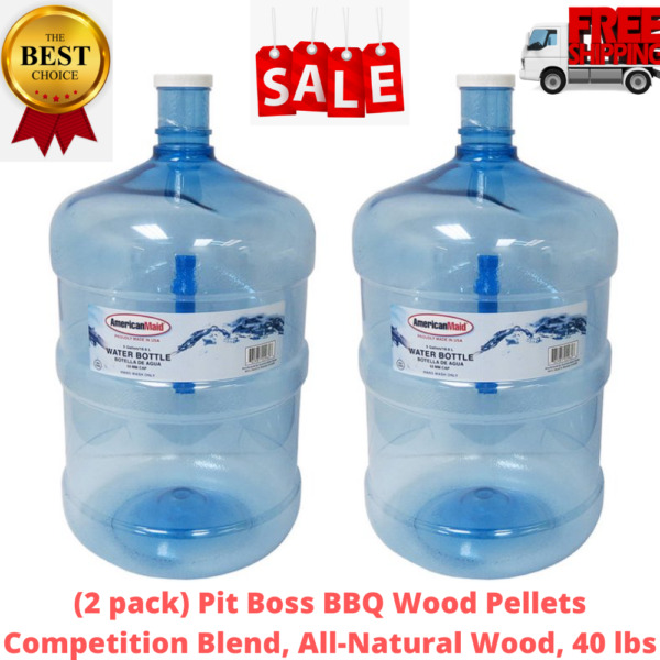 2 PACK 5 Gallon Water Bottle Big Liquid Jug Container BPA FREE REUSABLE DURABLE $26.99
