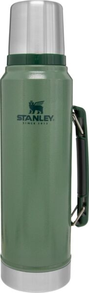 Classic Vacuum Thermos Bottle Coffee Green Hammertone 1.1 Qt Stainless NEW