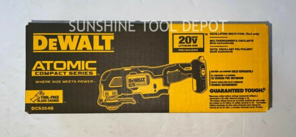 New Dewalt Atomic DCS354B 20V Max Brushless Cordless Oscillating Multi Tool