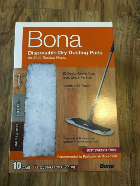 Bona 10 Count Multi Surface Dry Disposable Dry Dusting Cloths Pads BRAND NEW