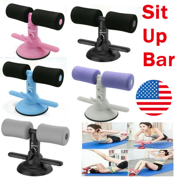 Sit Up Bar Suction Floor Exercise Stand Padded Equipment Home Gym Fitness US $14.49