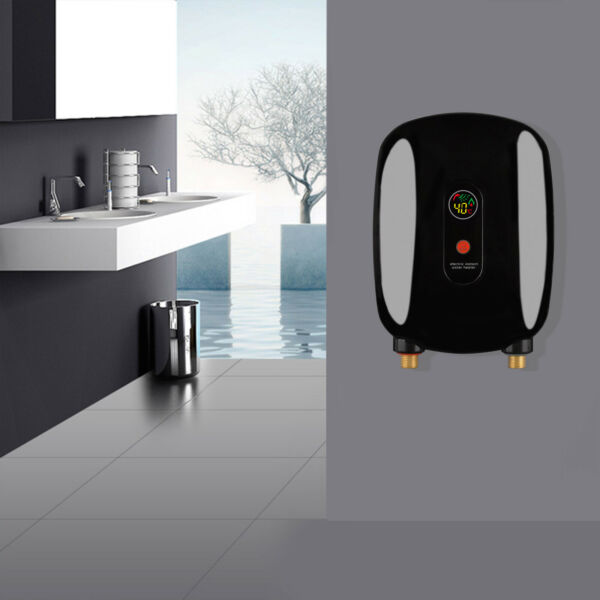 Black Gold Electric Water Heater Tankless Instant Boiler Kitchen Bathroom 3000W $61.00