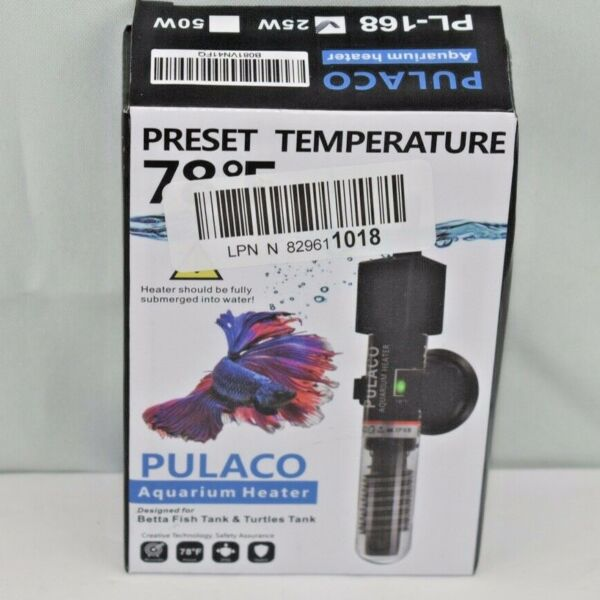 PULACO PL 168 25W Mini Aquarium Heater Betta fish 1 5 Gallon Small Fish Heater $20.00