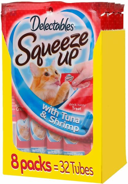 Hartz Delectables Squeeze Up Tuna amp; Shrimp 32 Tubes $25.98