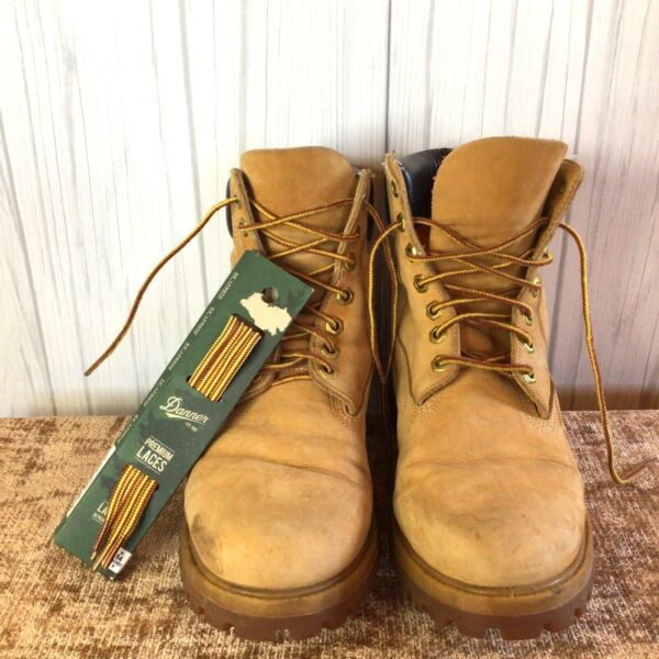 Men's Timberland Work Boots Chukka Hiking 9M with New Danner Shoe Laces EUC $69.95