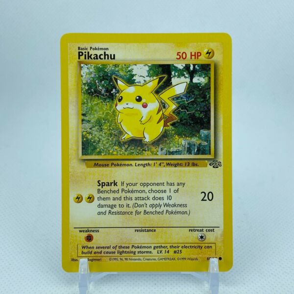 Pikachu 60 64 Jungle Set Unlimited Starter Pokemon NM $4.99