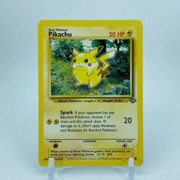 Pikachu 60 64 Jungle Set Unlimited Starter Pokemon NM LP $4.25