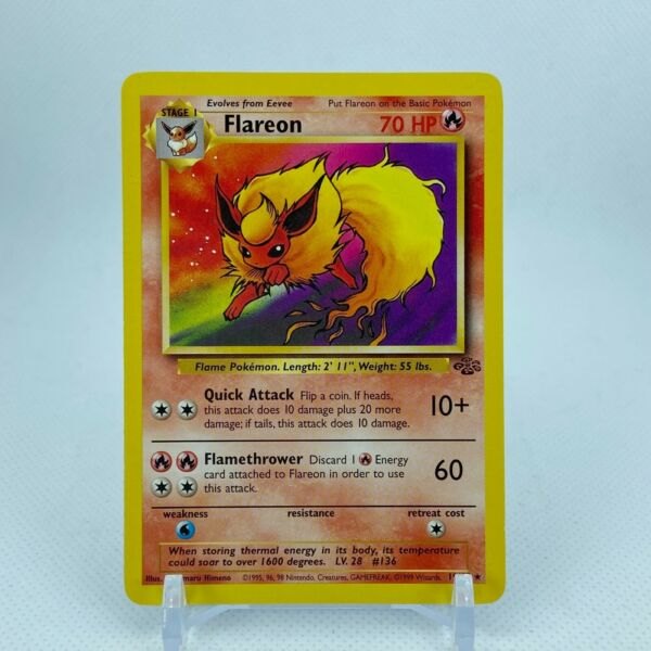 Flareon 19 64 Jungle Set Unlimited Rare Pokemon NM LP $8.25