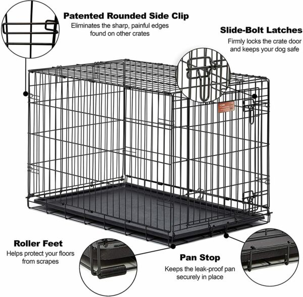 MidWest Homes for Pets Dog iCrate Single Door Folding Metal Dog Crates Equipped $39.99