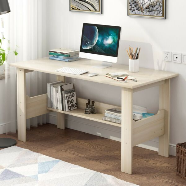 NEW Computer Desk PC Laptop Table Workstation Study Home Office w 7 Drawers GY $138.79