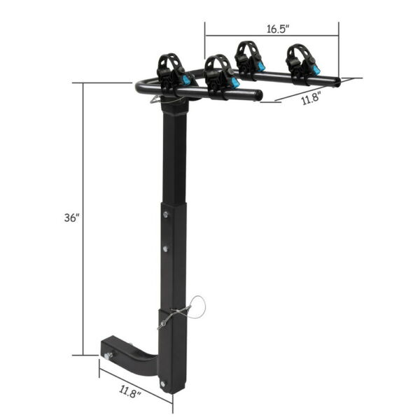 Premium 2 Bike Carrier Rack Hitch Mount Swing Down Bicycle Rack W 2quot; Receiver $70.99