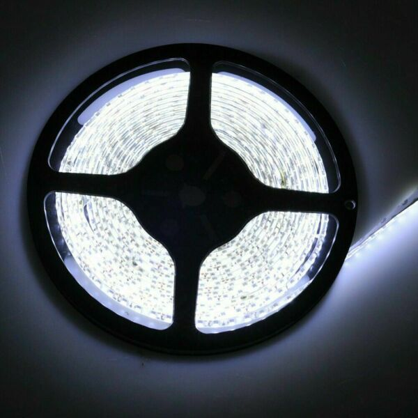 12V 16.4FT COOL WHITE LED 5050 SMD FLEXIBLE WIRE STRIP LIGHT ROPE WATERPROOF US $13.99