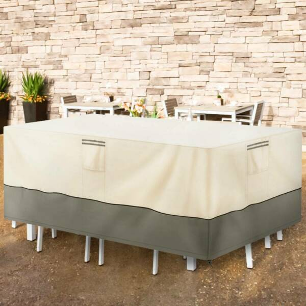 Outdoor Patio Furniture Cover 600D Rectangular Heavy Duty Waterproof Anti UV US