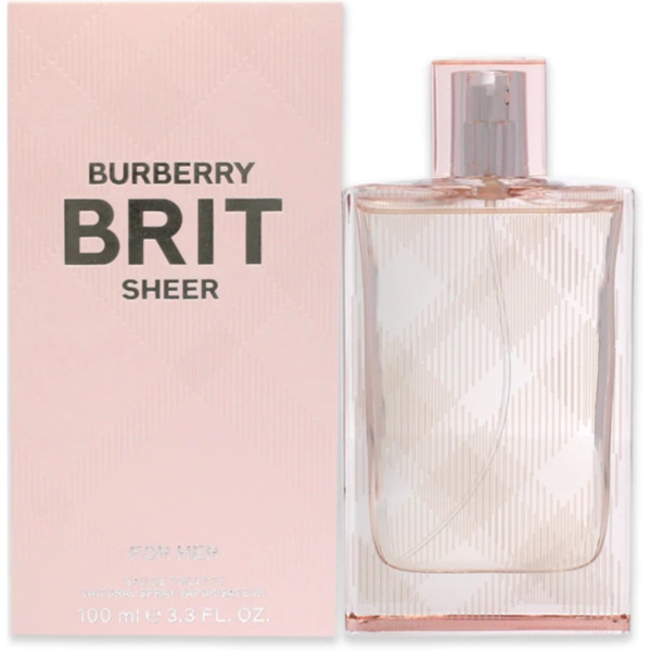 BURBERRY BRIT SHEER by Burberry for her EDT 3.3 3.4 oz New in Box $33.46