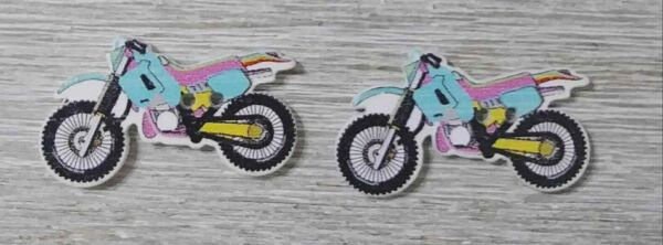 motorcycle bike wood Sewing buttons 2 Holes 1 1 4 inch 2Pcs blue $3.99