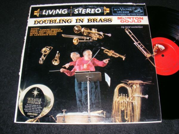 MORTON GOULD Living Stereo Banner 1959 LP DOUBLING IN BRASS Shaded Dog BAND MUSC $7.50