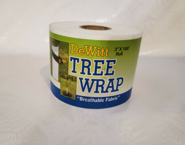 Tree Trunk Fabric Wrap White 3 in X 100 ft Home Garden Yard $8.99