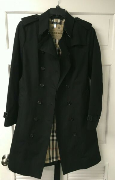 Burberry Women#x27;s Sandrigham Trench Coat Jacket Size US 16 $1200.00