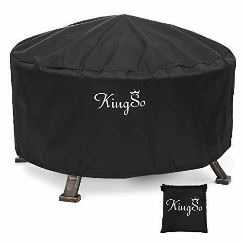 KINGSO Outdoor Fire Pit Cover Round 36quot; Waterproof 600D Heavy Duty Patio Fire...