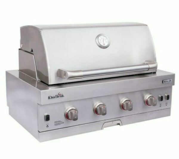Char Broil Medallion 4 Burner Built in STAINLESS STEEL Natural Gas Grill NEW $899.00