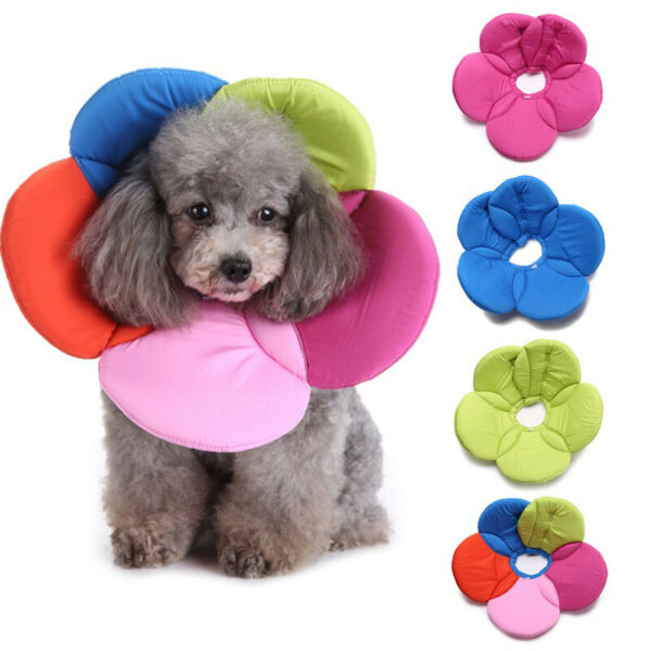 Soft Dogs Cats Protective Collar Flower Neck Cover for Recovery Anti Bite $8.77