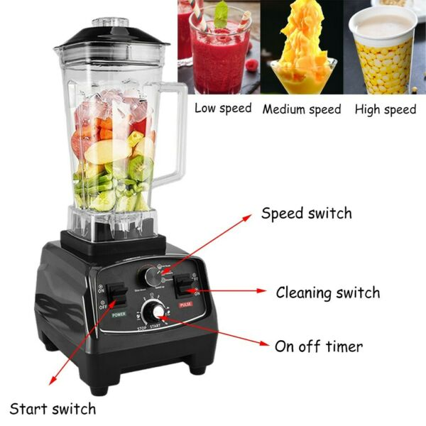 1000W High Speed Professional Countertop Blenders For Shakes And Smoothies Black