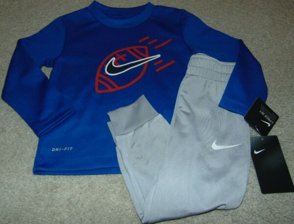 NWT Boys NIKE Football Dri Fit Outfit Size 4T Super Cute: