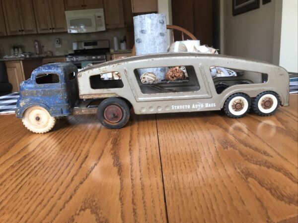 Vintage Structo Car Carrier And A Cab $50.00
