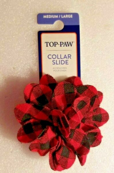 Dog Collar Slide Flower Accessory Medium Large Top Paw Pet Collar Accessory $3.99