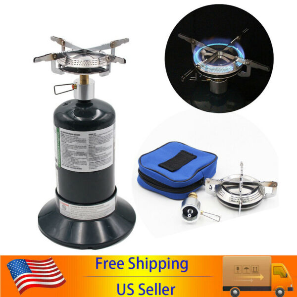 Gas Stove Camping Propane Gas Stove with Adjustable Burners for Outdoor Hiking