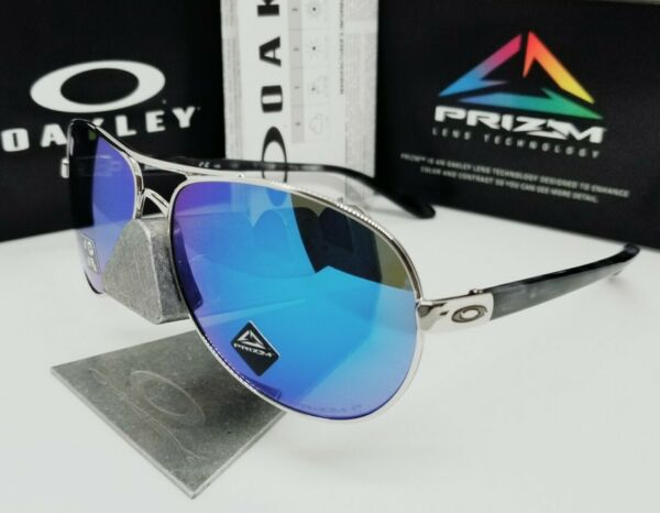 OAKLEY chrome sapphire quot;PRIZMquot; POLARIZED quot;FEEDBACKquot; OO4079 33 sunglasses NEW $124.99