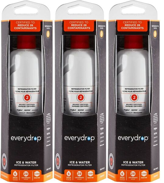 EveryDrop by Whirlpool Refrigerator Water Filter 2 EDR2RXD1 Pack of 3 $63.88