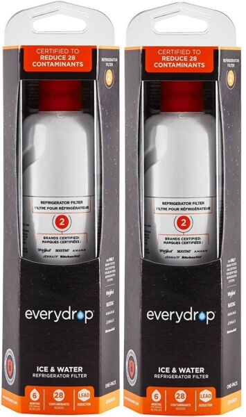 EveryDrop by Whirlpool Refrigerator Water Filter 2 EDR2RXD1 Pack of 2 $43.88